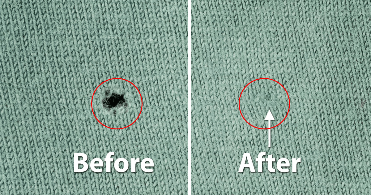 Holes In Your Favorite Sweater? Forget The Needle And Thread – Just Check Out This Ingenious Solution 1