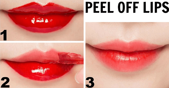 Peel off mask to get pink lips in 2 minutes 1