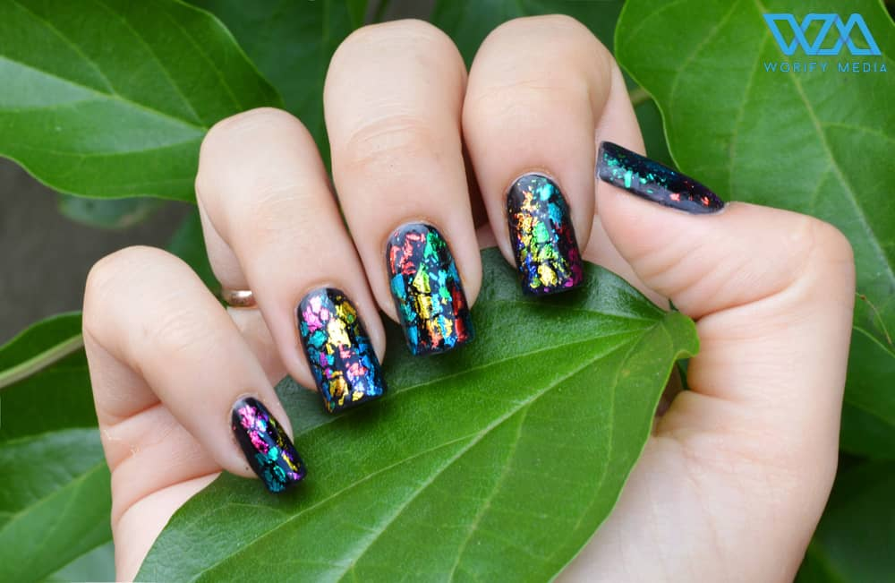 Some of the best Rainbow Nail Art Designs. 1