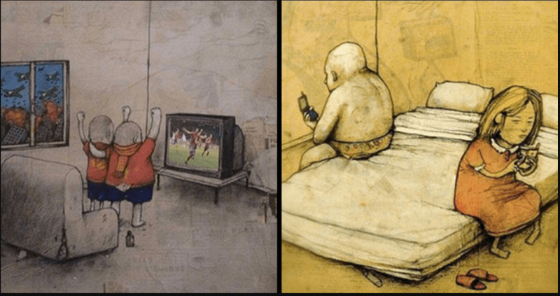 These comics will show the actual condition of the world today 1