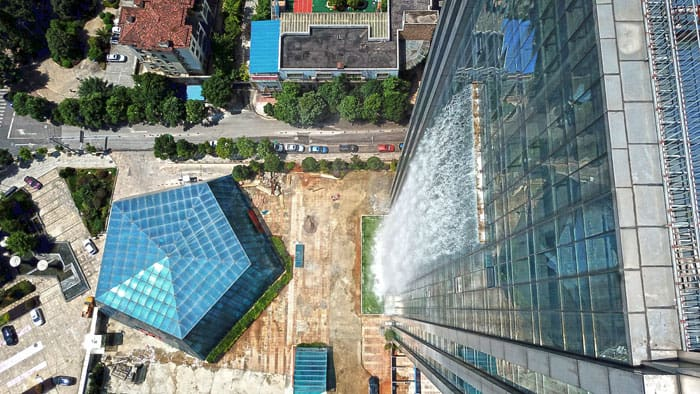 Chinese Built A Huge Human-Made Waterfall In Guiyang 1